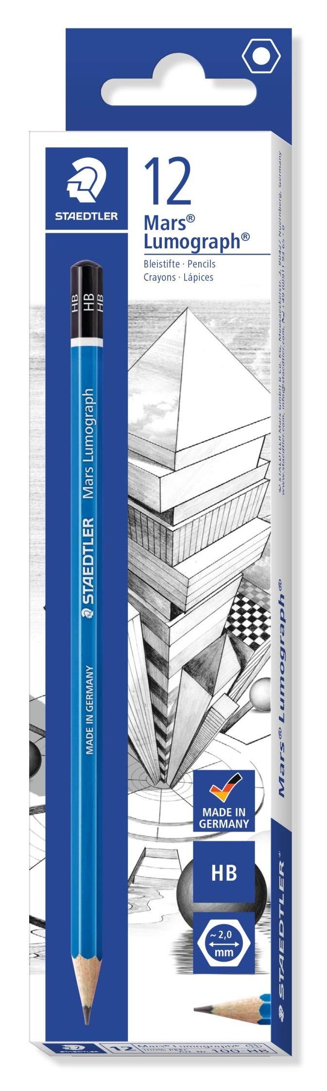 STAEDTLER Mars 100-HB LUMOGRAPH Pencil HB - Box of 12 by STAEDTLER