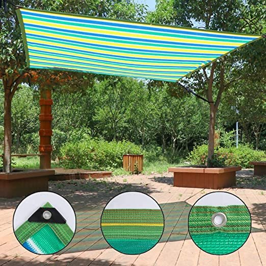 80% Sunblock Garden Patio Shade Sails, Rectángulo Exterior de ...