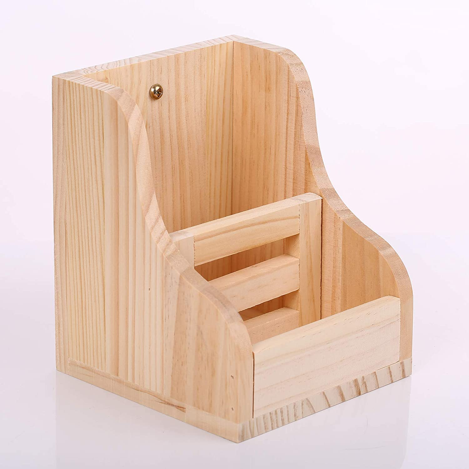 ZARYIEEO Rabbit Hay Feeder, Wooden Grass & Food 2 in 1 Double Use Dispenser, Wood Rack Manger Holder for Bunny Guinea Pig Chinchilla, Less Wasted Indoor Bowl Small Animal Pet-self Feeding Bin