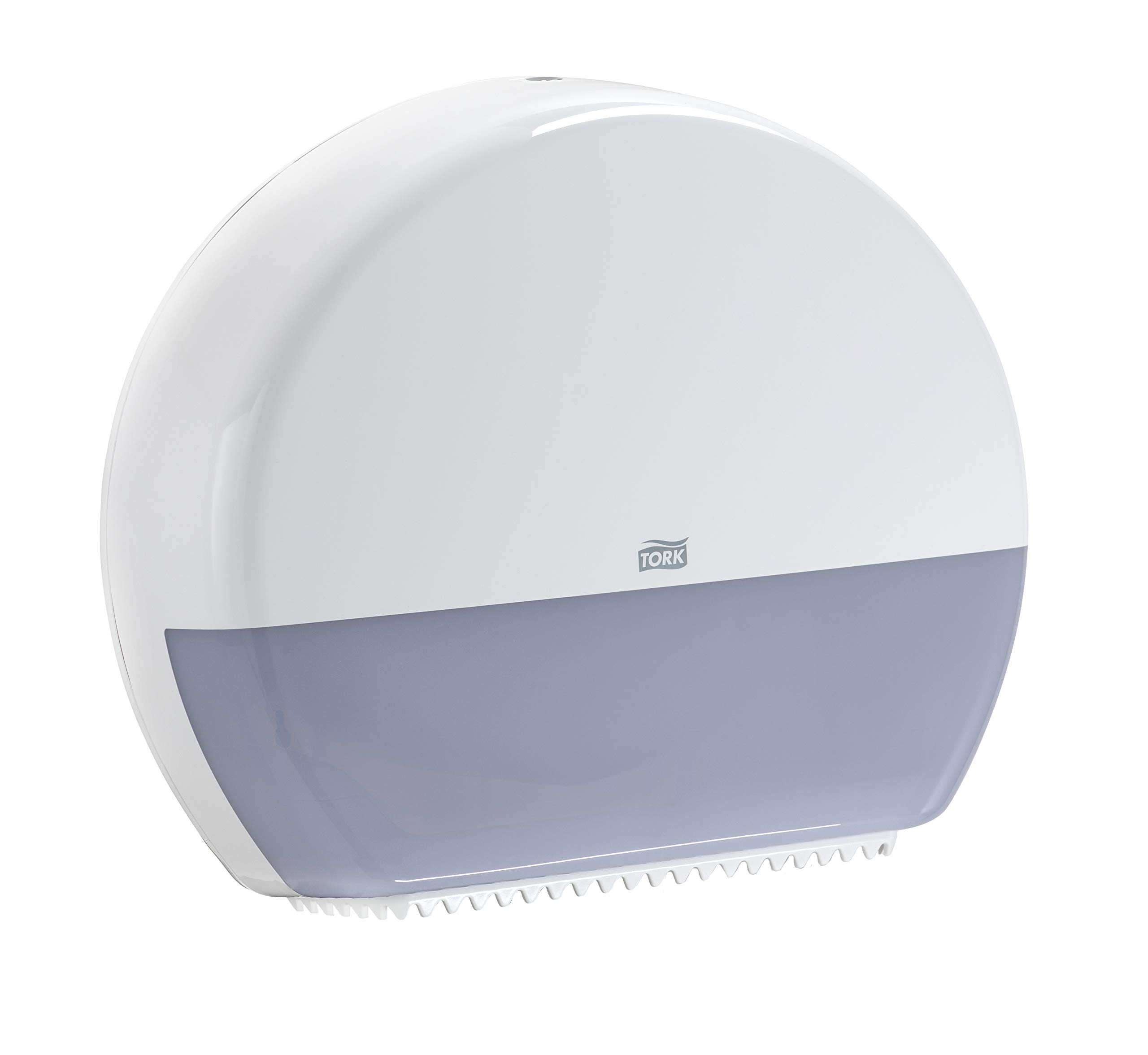 Tork 554020A Elevation Jumbo Bath Tissue Roll Dispenser, 14.2'' Height x 17.2'' Width x 5.2'' Depth, White (Case of 1 Dispenser) for use with Tork 12021502 and 11010402