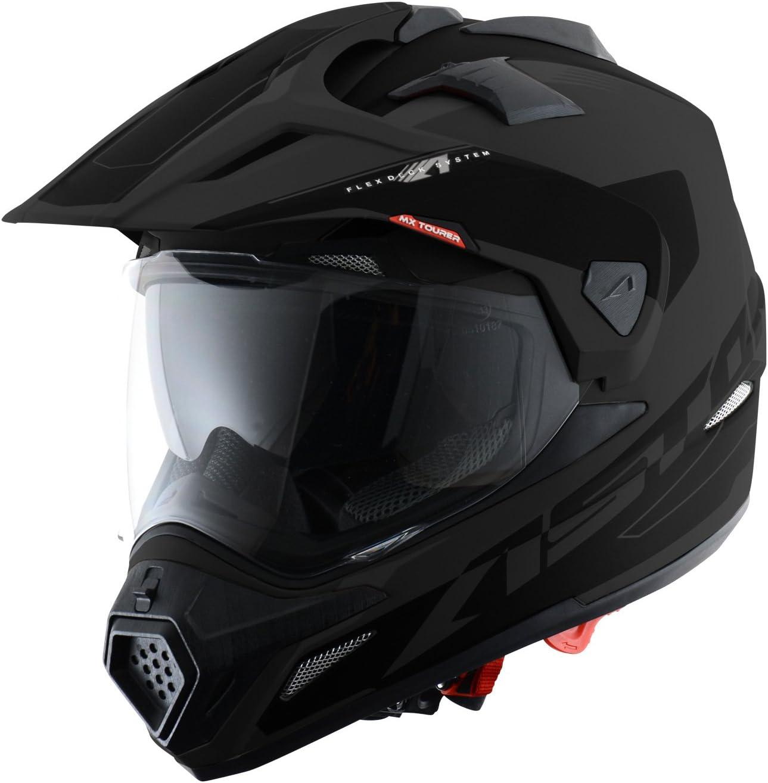 Matt black XL Casque de motocross homologu/é en polycarbonate Astone Helmets -CROSS TOURER ADVENTURE 3 en 1 enduro route et trail Casque int/égral polyvalent