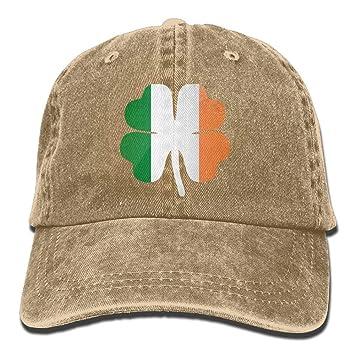 dfegyfr Suerte Trébol de Cuatro Hojas Bandera Irlandesa Irlandesa ...