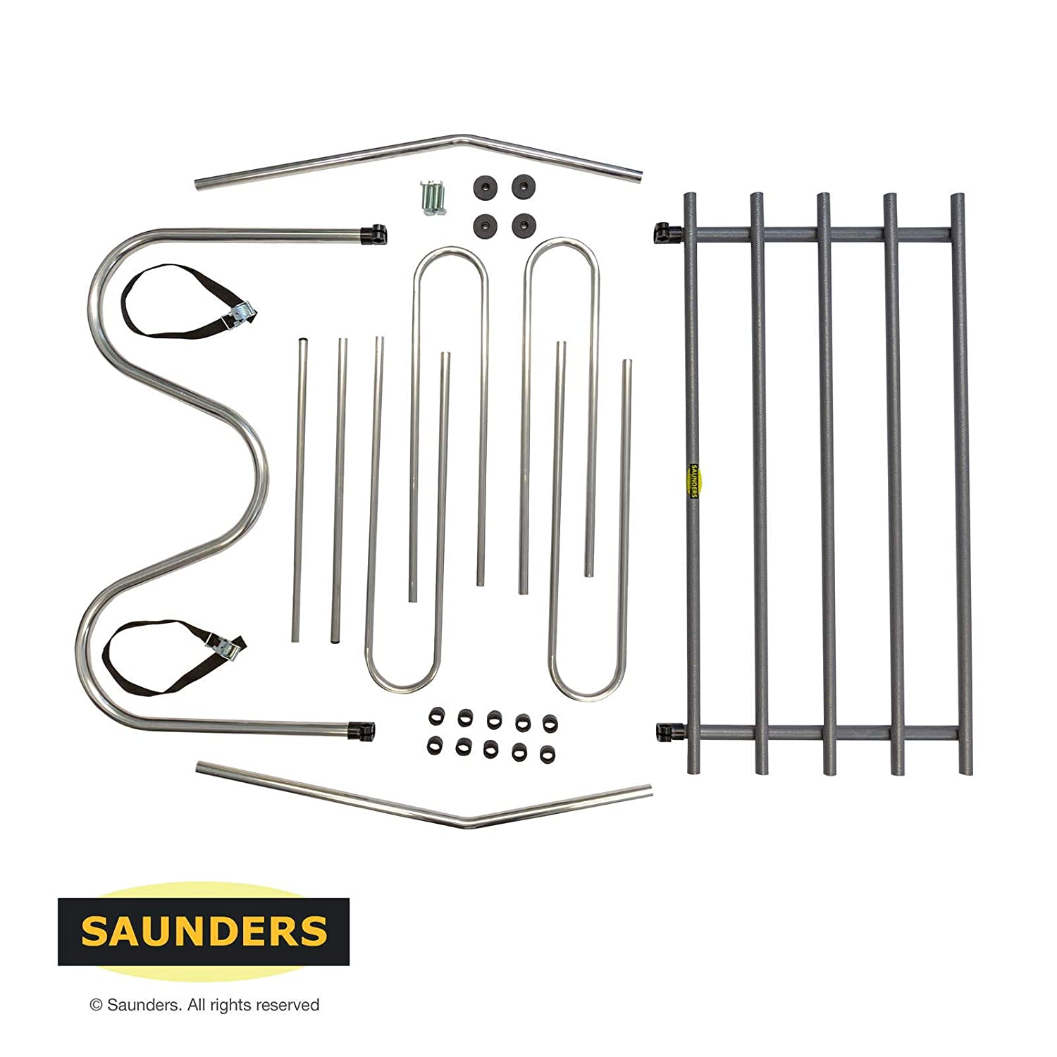 Saunders T95 Tubular Car Dog Guard Barrier Large Fits Seat Top to Roof Gap of 33cm to 41cm
