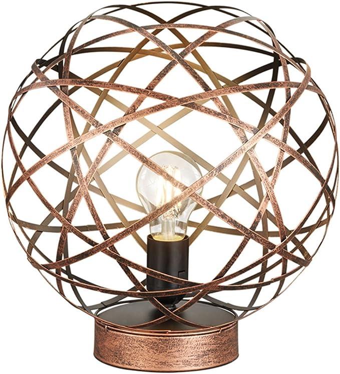 Stravagante Palla Lampada Da Tavolo Jacob Con Lampadine A Led Design Rame Antico O 30 Cm Trio Leuchten Amazon It Illuminazione