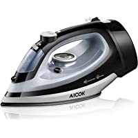 Aicok Steam Iron 1700W Professional Garment Steamer with Retractable Cord,