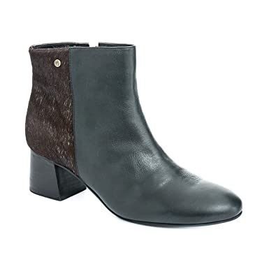 VELEZ Women Genuine Colombian Sturdy Leather Ankle High Low Block Heel Closed Toe Ankle Strap Boots
