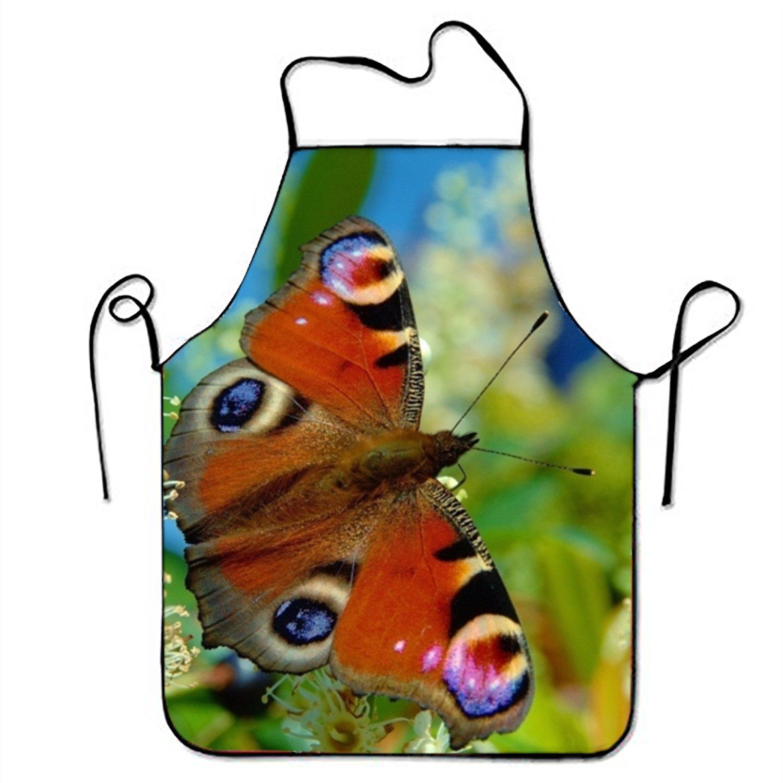JONHBKD ファッション ブルー ブラック 蝶 キッチン エプロン 女性用 アートエプロン ドレス メンズ クッキングエプロン BBQエプロン Onesize yh_009_1209851  Butterfly 14 B07F7R33WQ