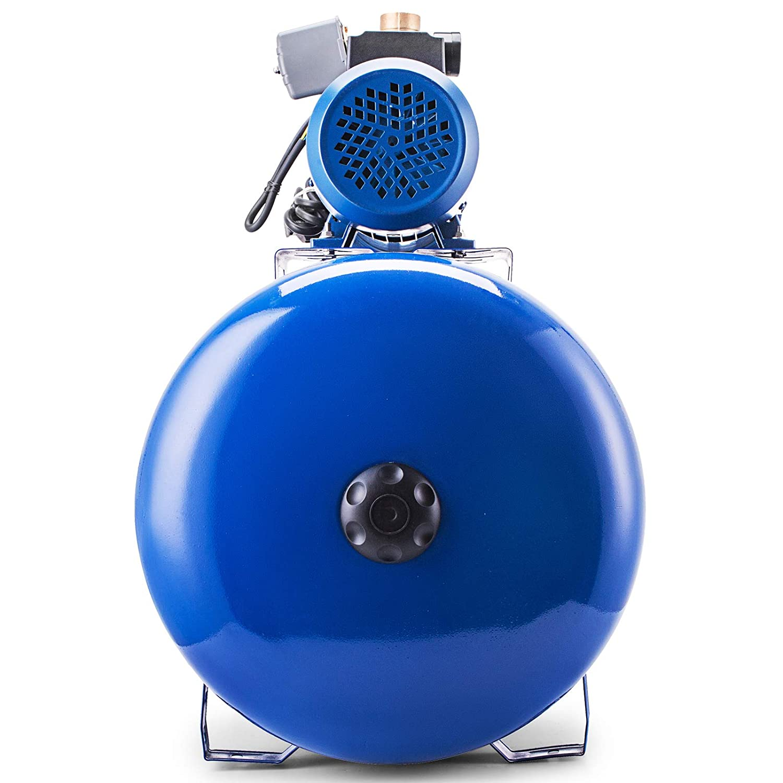 Anhon Bomba Centr/ífuga de Agua de Jard/ín de Acero Inoxidable 1500 W Bomba de Agua Centr/ífuga de Refuerzo Bomba de Agua con Recipiente a Presi/ón de 100L MC-1500-100L