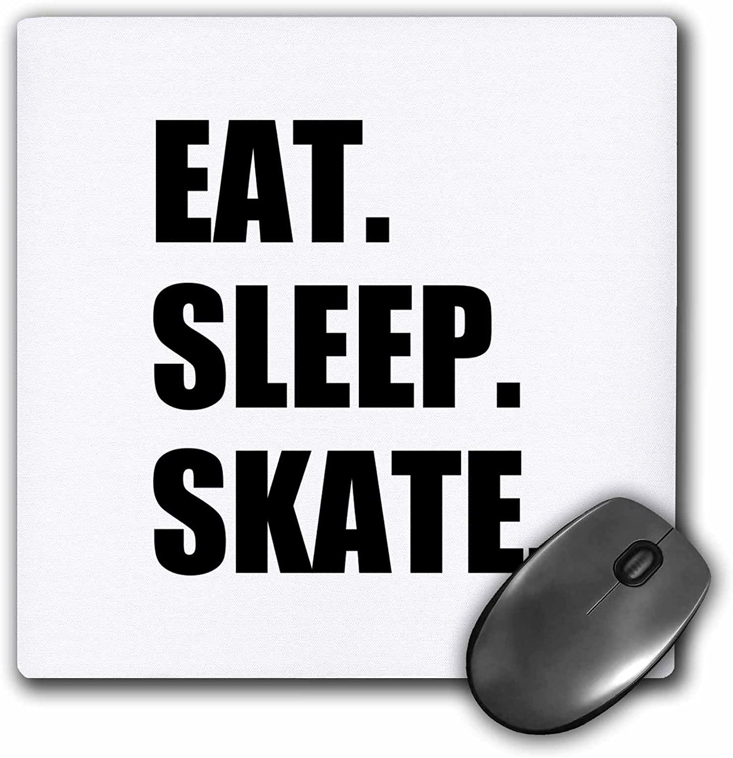 3dRose Eat Sleep Skate mp/_180440/_1 Mouse Pad 8 by 8 inches passionate skater skating enthusiast