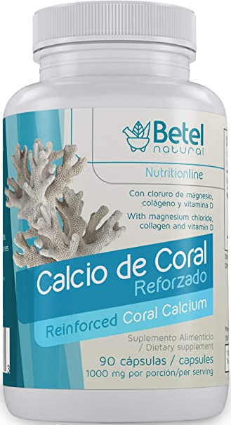 Reinforced Coral Calcium by Betel Natural - Healthy Supplement for Healthy Strong Bones - 90 Capsules