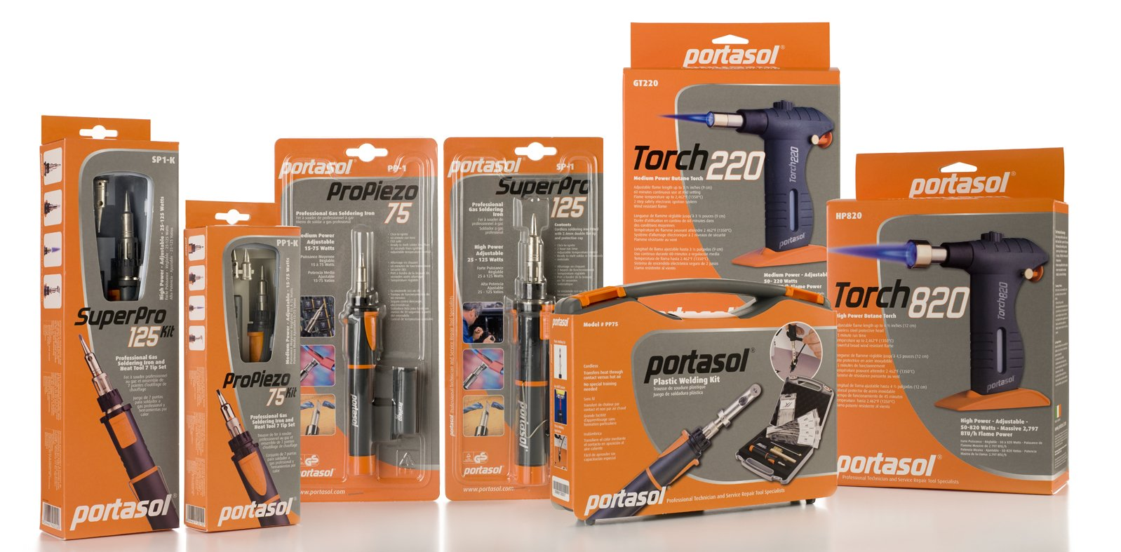 Portasol 011280240 Pro Piezo 75 Watt Butane Powered Soldering Iron