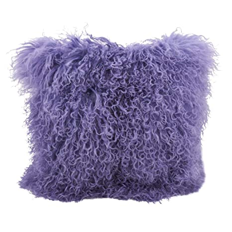 Amazon.com: 1 almohada de piel de cordero mongol ultra ...