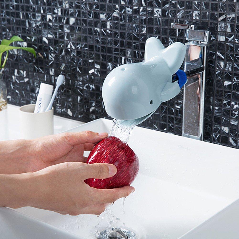 New Wasserhahn Verl/ängerung f/ür Wasserhahn Kid Hand Waschen Pflegen Gute Gewohnheiten Sp/üle rose 11 * 8 * 9cm Wanne