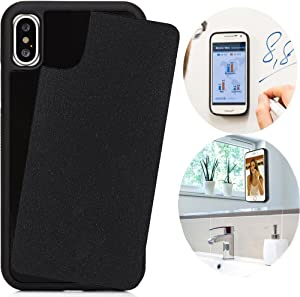 CloudValley Anti Gravity Case for iPhone Xs/iPhone X, Phone Cases Magical Nano Can Stick to Smooth Flat Surfaces for Apple iPhone Xs 5.8 (2018) & iPhone X (2017) - Black