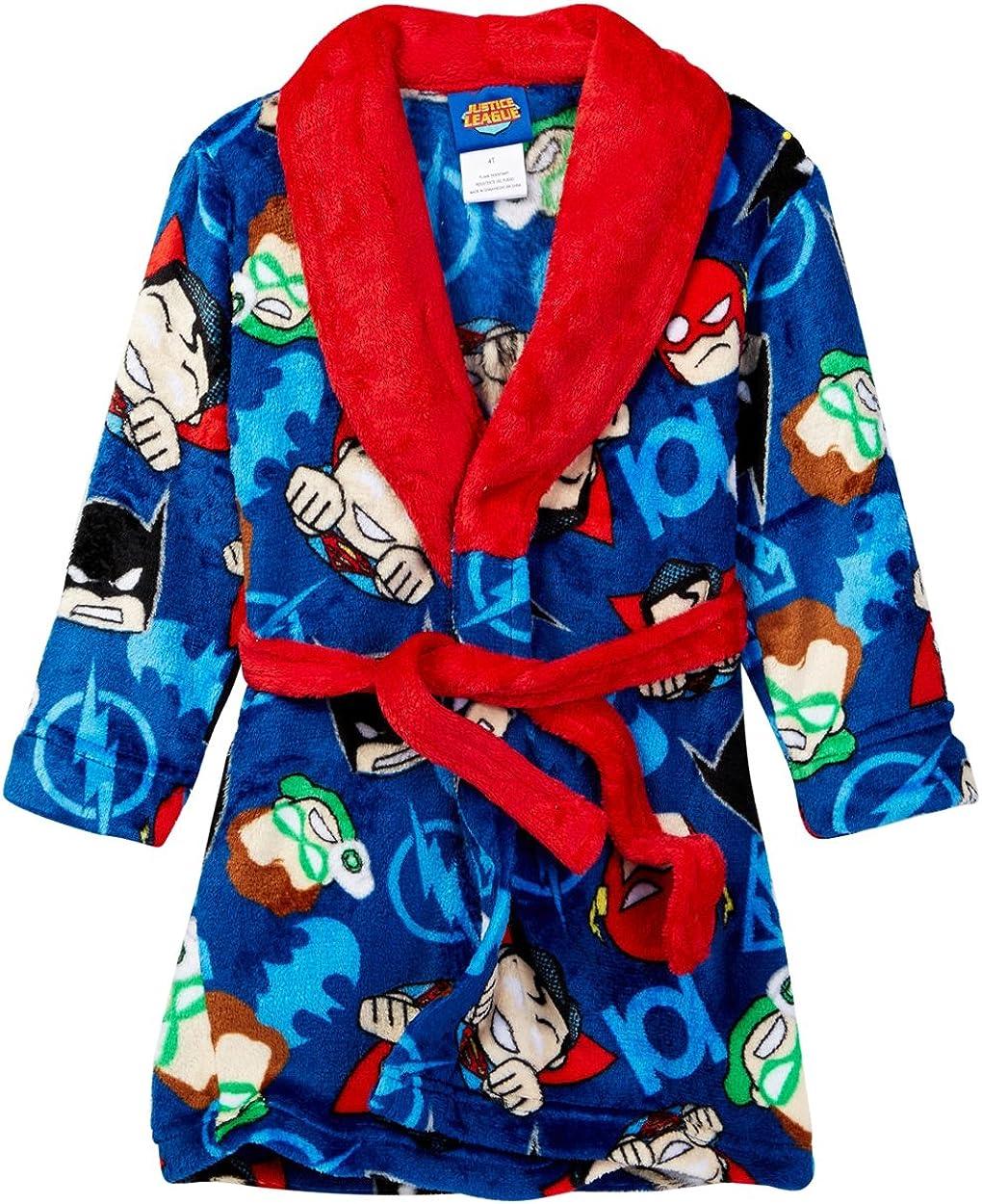 NEW Komar Kids Red Fleece Bathrobe for Boys with Pockets