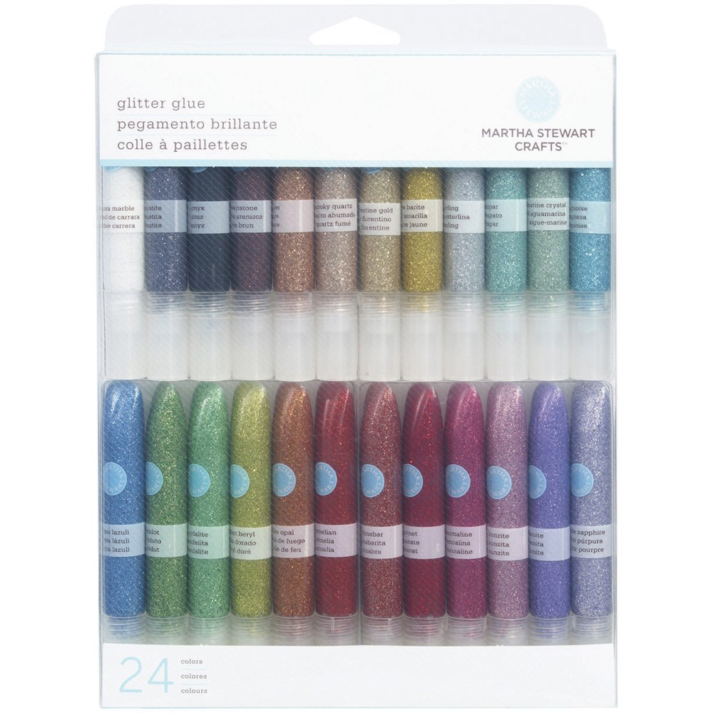 Amazon.com: Martha Stewart Crafts Glitter Glue Set, 24 Per Pack