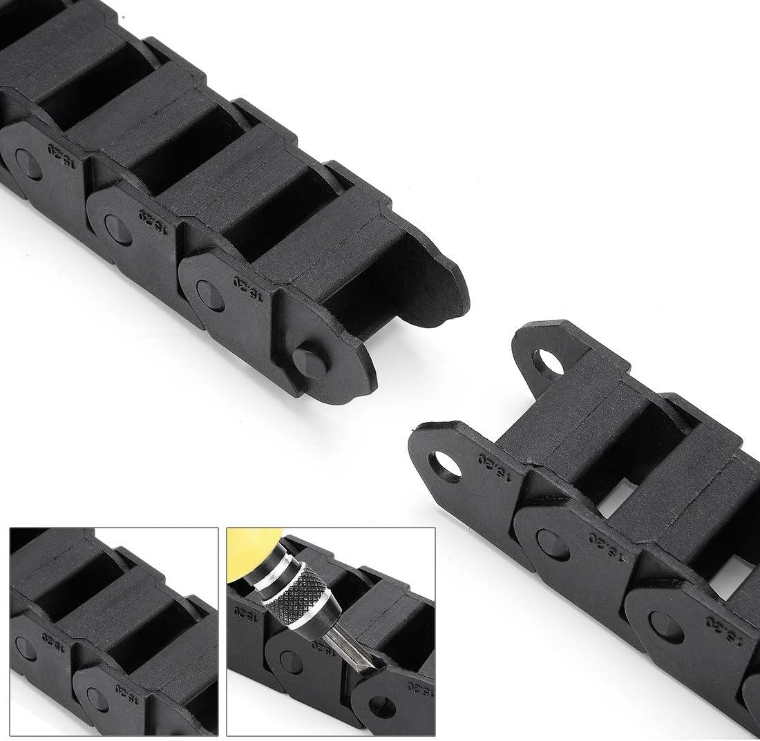 sourcing map 20 abrazaderas de nailon tipo R para organizaci/ón de cables de 15 a 19 mm de di/ámetro R19 color negro