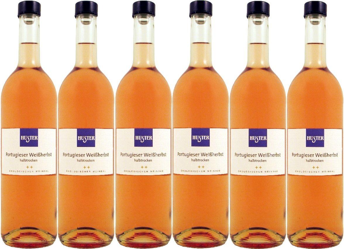 Weingut Huster Portugieser Weißherbst QbA Bio (6 x 0.75 l): Amazon ...