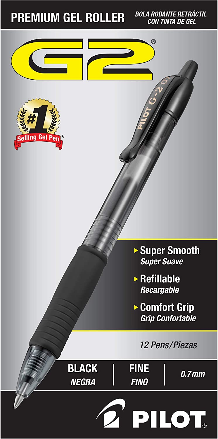 PILOT G2 Premium Refillable & Retractable Rolling Ball Gel Pens: Office Products