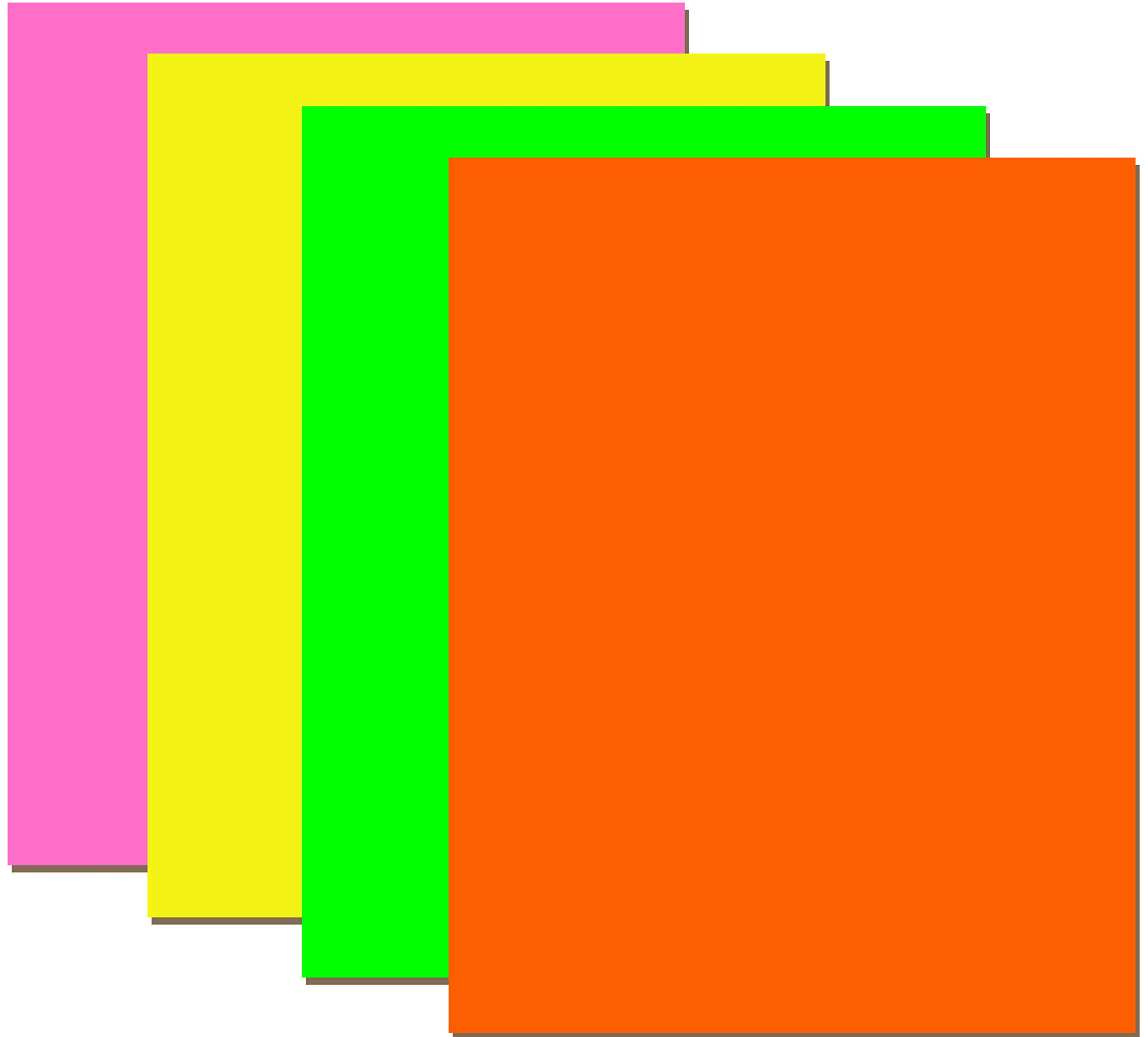 Neon Poster Board, 22''x 28'', Asst. Colors, Case Pack of 100, Ideal for Bulk Buyers by AUKSales