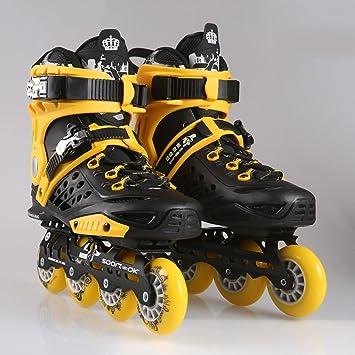 Sunkini Zapatos de Patinaje de Velocidad Profesional Adultos Patines de Ruedas Mujeres/Hombres Zapatos de Patinaje En Línea Material PP Cojinete ABEC-9: ...