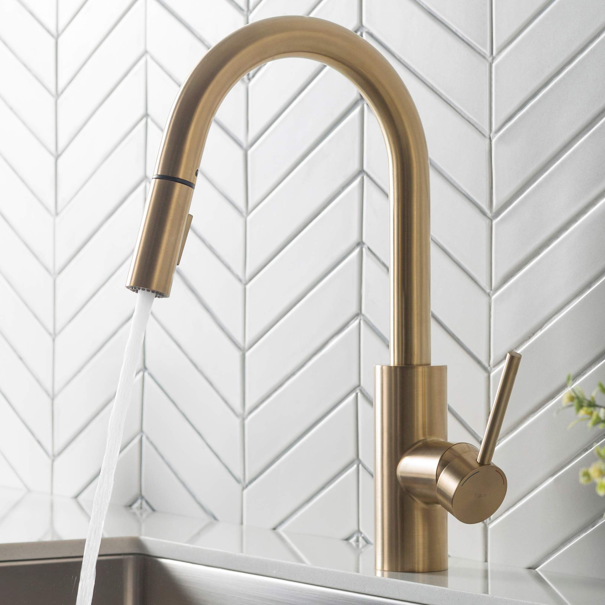 Kraus KPF-2620BG Oletto Kitchen Faucet, in in Gold Finish