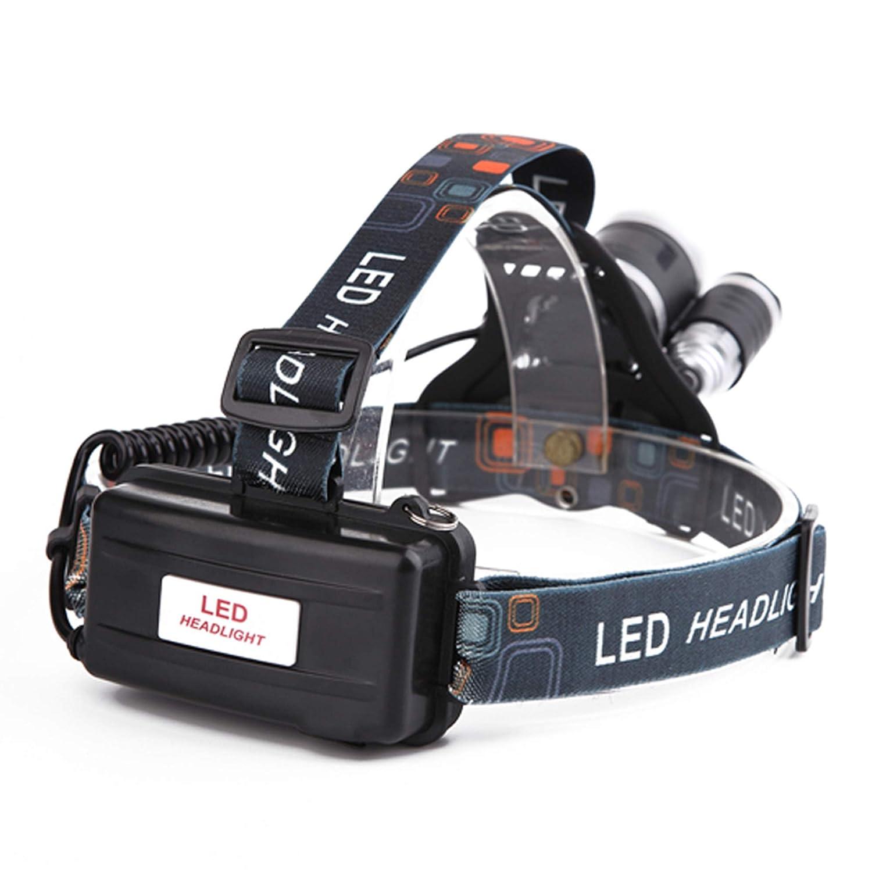 TOOGOO R Lampara de cabeza ultra brillante de 3 modos impermeables 6 LED para Bicicleta y Senderismo
