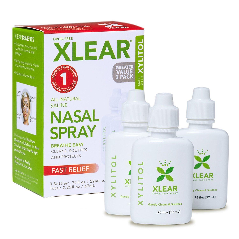 XLEAR Sinus Nasal Spray Bottle Economy Pack (Pack of 36)