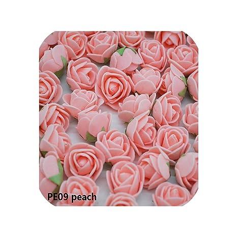Amazon.com: 50 rosas artificiales con cabeza de rosa, 0.8 in ...