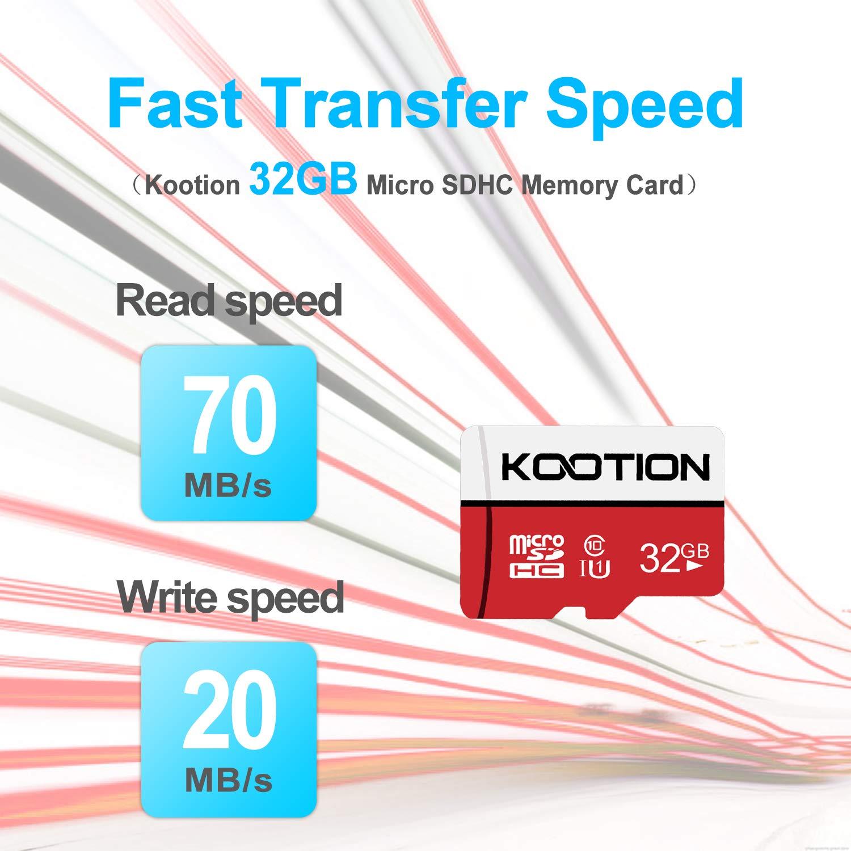 KOOTION Micro SD Card 64GB*3pcs UHS-I Speed up to 80m//s,Memory Card Micro SDXC,Class 10,U1