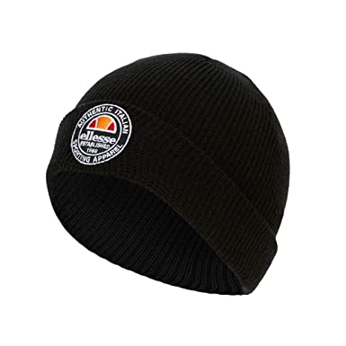 b21e475c ellesse Yaan Beanie Men Black OSFA (One Size fits Any): Amazon.co.uk:  Clothing