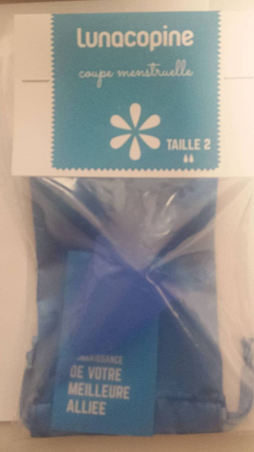 Lunette Reusable Silicone Menstrual Cup - (Model 2 After Childbirth or High Stream, Blue Selene) The Lune Co