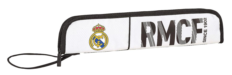 Real Madrid 811854284 2018 Portaflauta, 37 cm, Blanco