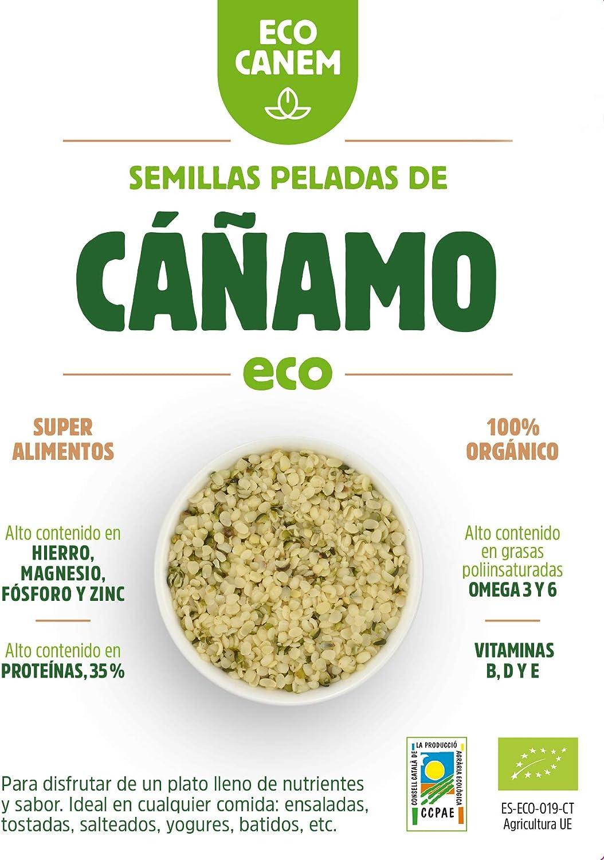 Semillas peladas de cáñamo BIO. 100% Vegano. Raw. 200 g ...