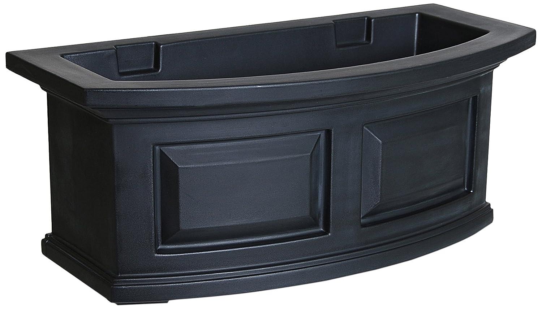 Mayne 4829-B Nantucket Polyethylene Window Box, 2 , Black