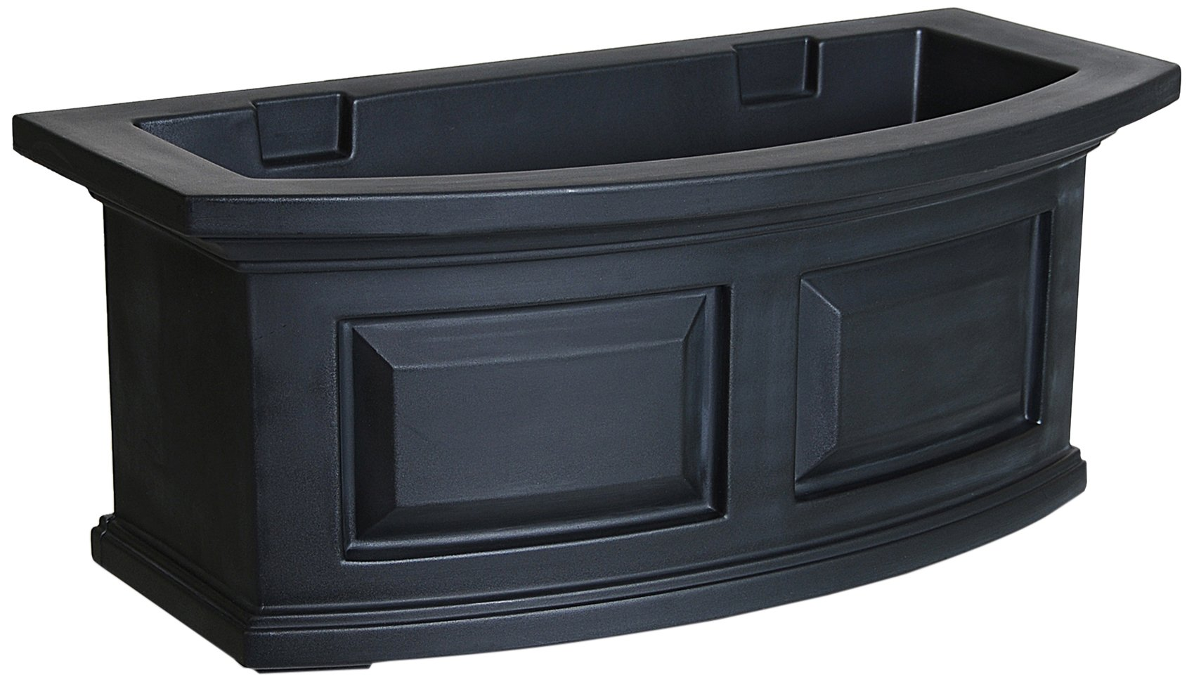 Mayne 4829-B Nantucket Polyethylene Window Box, 2', Black by Mayne