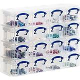 Archivo 2000 944564 - Organiseur Carré 16 compartiments, transparent