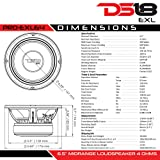 "DS18 PRO-EXL64 Loudspeaker - 6.5"", Midrange, Red"