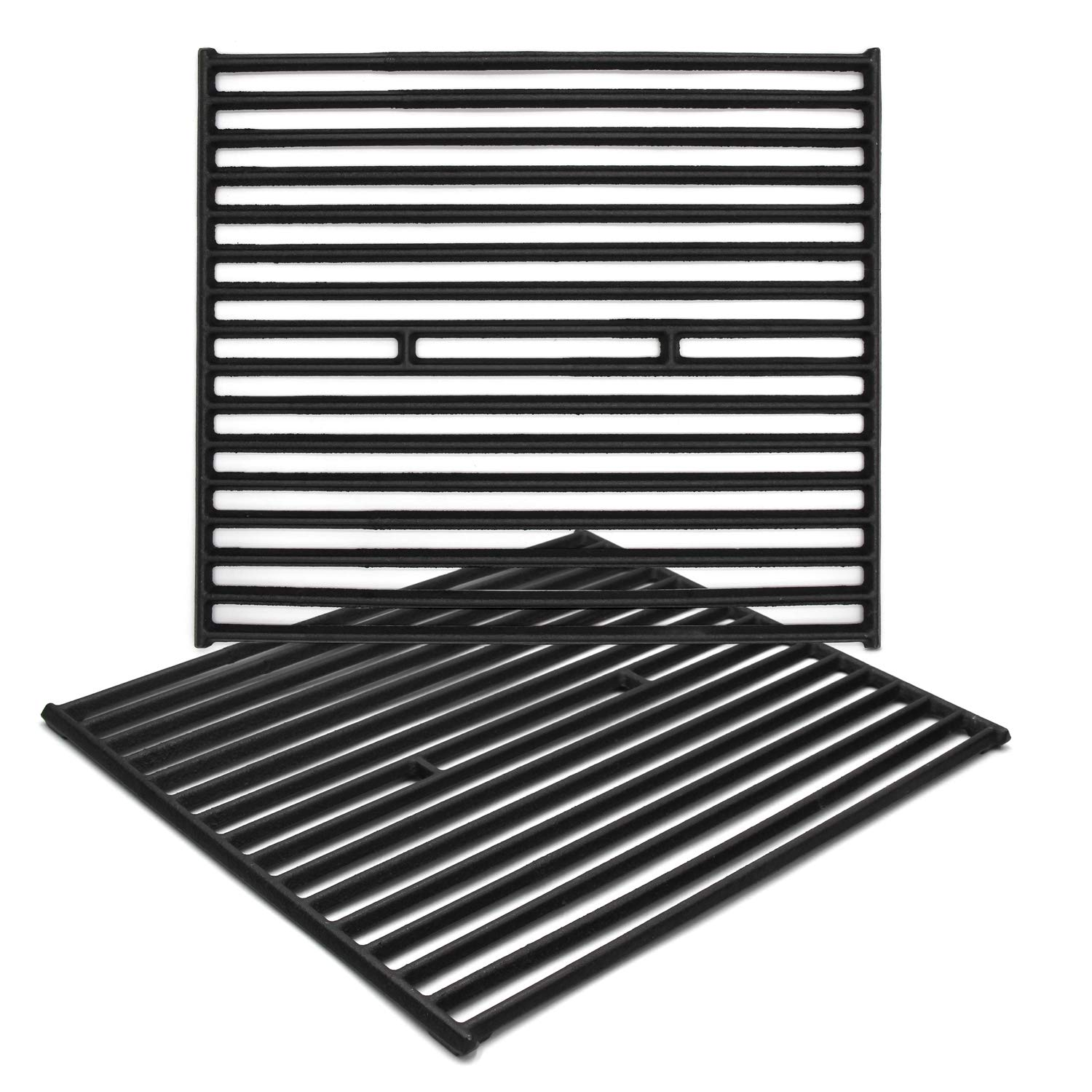 Hongso PCD362 Matt Cast Iron Cooking Grid Replacement for Select Gas Grill Models by Broil King, Broil-Mate and Others, Set of 2, Upgrate Version, Better Quality, Smaller Gaps by Hongso