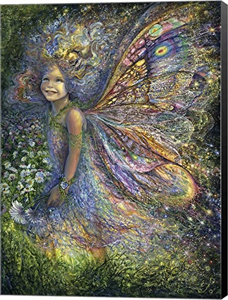 Amazon the wood fairy by josephine wall canvas art wall the wood fairy by josephine wall canvas art wall picture museum wrapped with black sides voltagebd Image collections