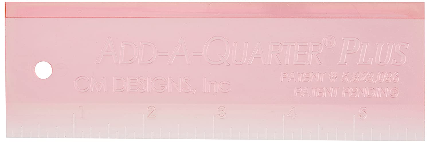 CM Designs CMD10006 Pink Ruler Add-A-Quarter Plus, 6