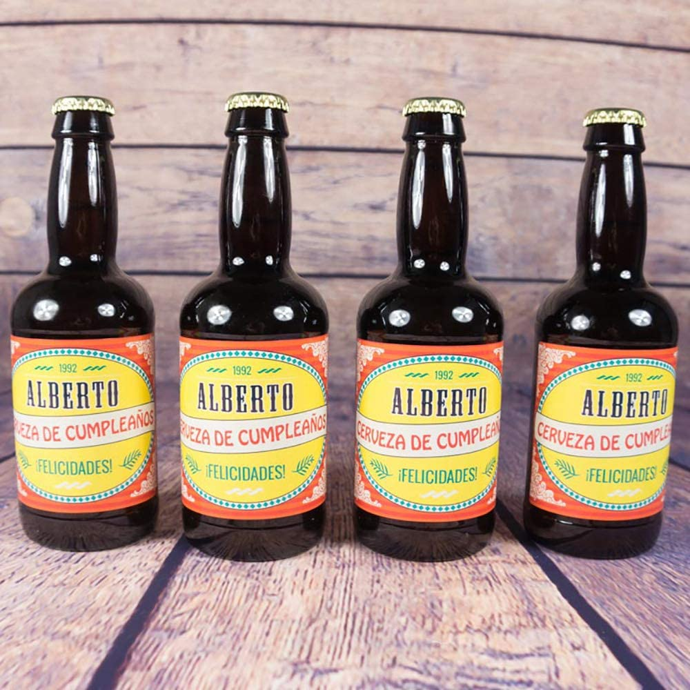 Pack de cervezas personalizadas para cumpleaños en estuche de ...