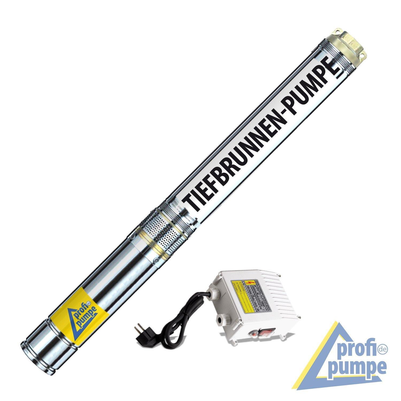 BRUNNENPUMPE TIEFBRUNNENPUMPE TAUCHDRUCKPUMPE GARTENPUMPE WASSERPUMPE PUMPE BRUNNEN-STAR 1500-5=Die 4-ENERGIE-SPAR-TIEFBRUNNENPUMPE mit hoher Förderleistung und großem Druck