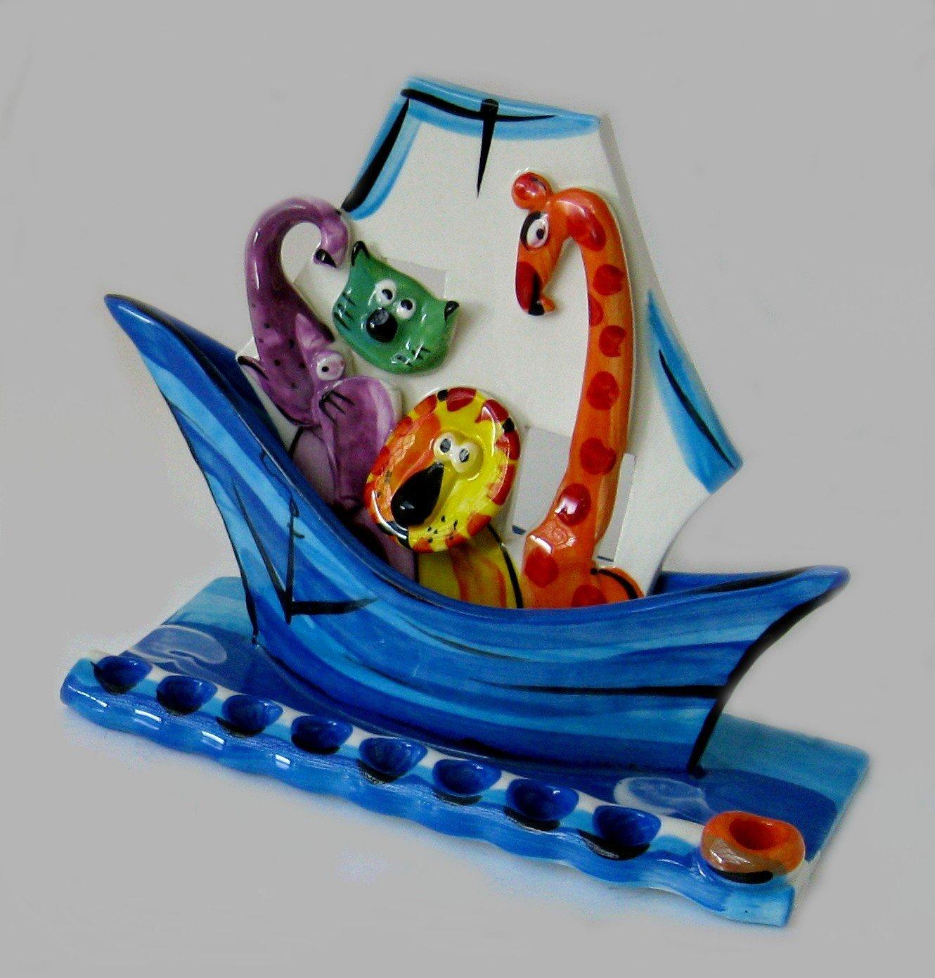 Chanukah Menorah, Hanukah Menorah - Animal Series for Kids, Noah's Ark