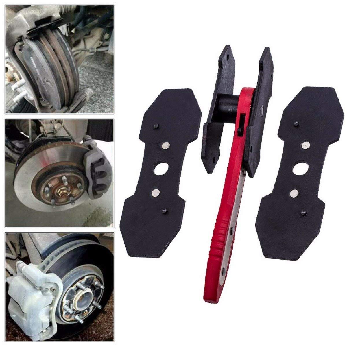 Barlingrock Disc Brake Piston Spreader Tool Ratchet Type Brake Caliper Press Piston Spreader Separator Pad Install Tool Black