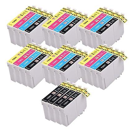 PerfectPrint - 28 PerfectPrint cartuchos de tinta compatibles Reemplace T1295 para Epson Epson Stylus SX230 SX235W SX420W SX425W SX435W SX440 SX445W ...