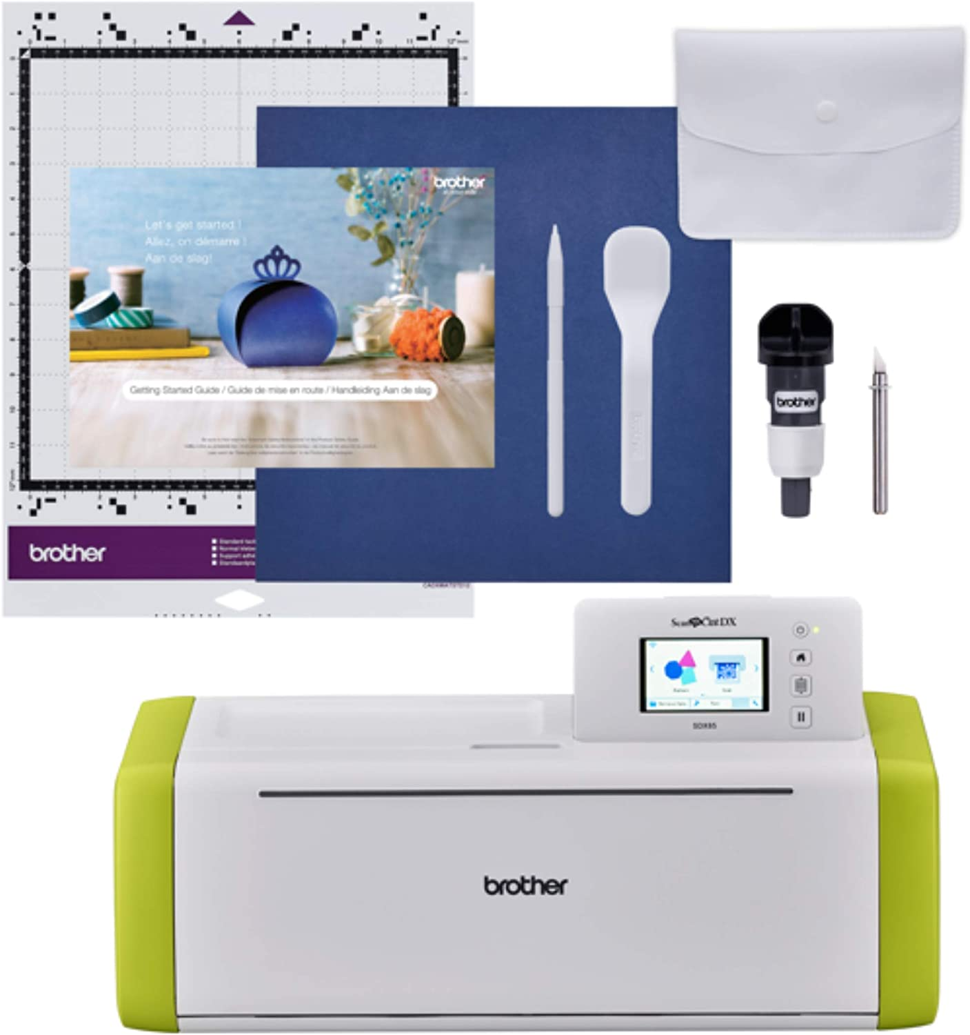 Brother ScanNCut SDX85 Electronic DIY Cutting Machine with Scanner, Make Vinyl Wall Art, Appliques, Homemade Cards and More with 251 Included Patterns