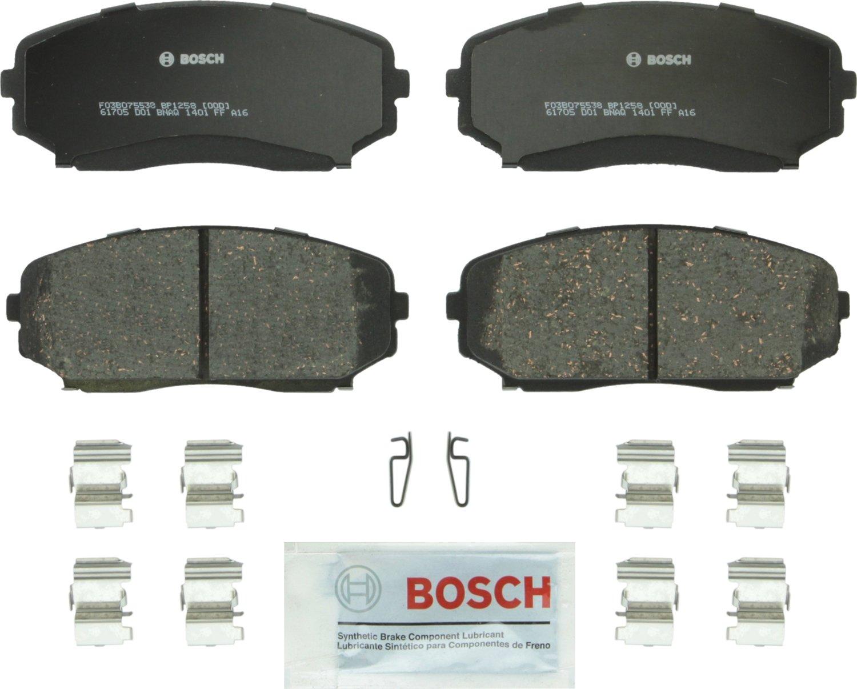 Bosch BP1258 QuietCast Premium Semi-Metallic Disc Brake Pad Set For Ford: 2007-2014 Edge; Lincoln: 2007-2015 MKX; Mazda: 2007-2012 CX-7, 2007-2017 CX-9; Front
