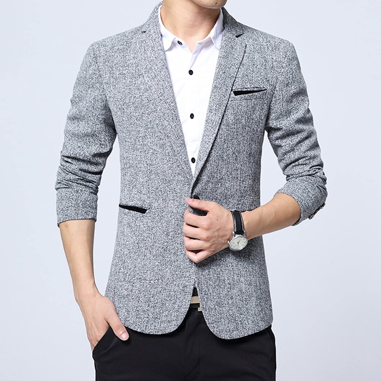 8660cab4442 Bingua.com - Benibos Mens Premium Casual One Button Blazer Slim Fit ...