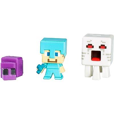 MINECRAFT Action Figure Pack 3 figurines Blanc, Bleu, Violet